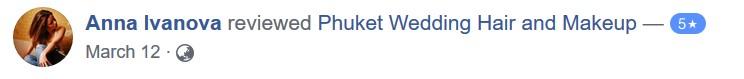 Phuket Wedding Hair and Makeup Reviews